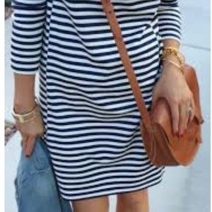 Navy and white strip JCrew factory dress